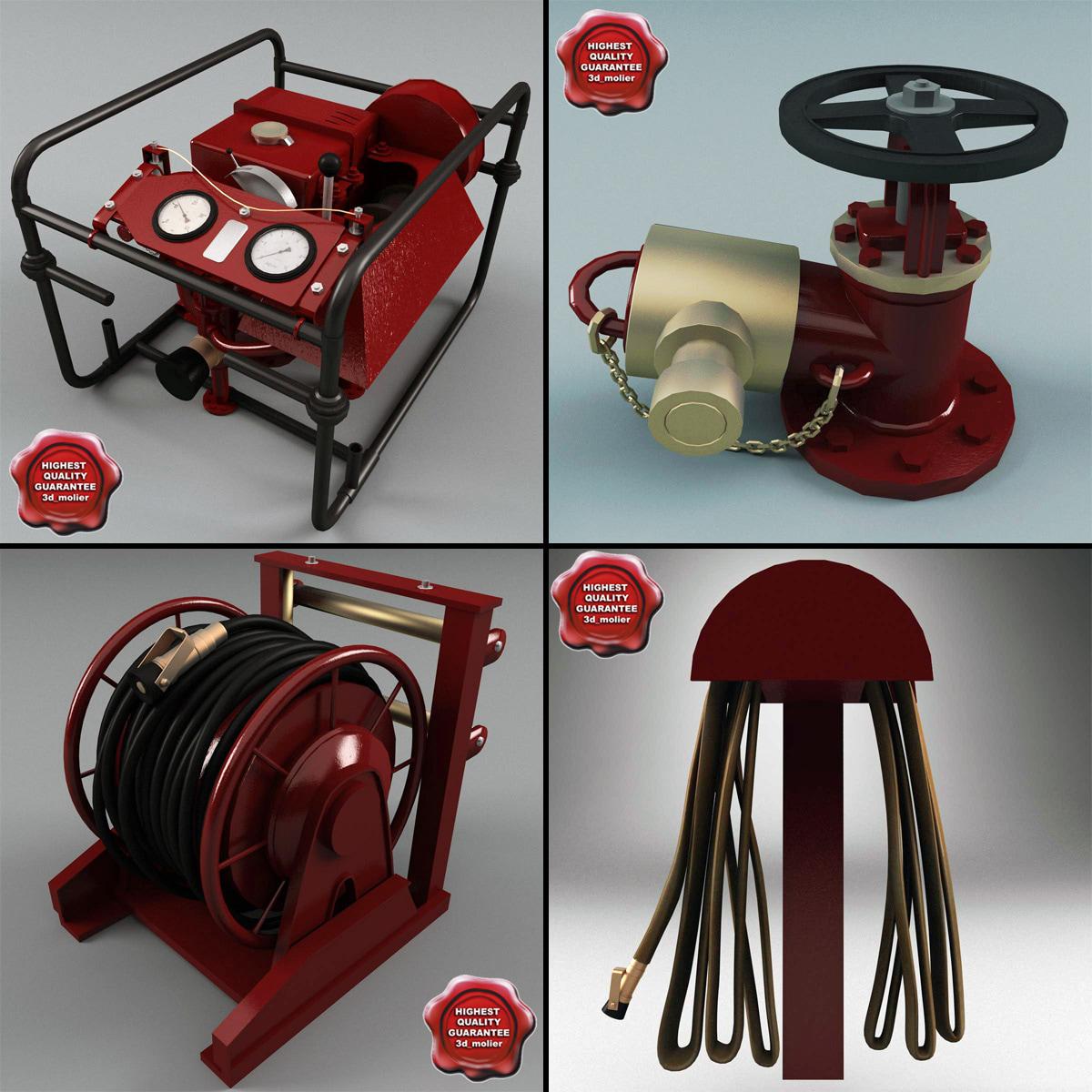 3d model ship equipment