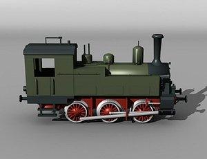 3d model german t3 steam engine