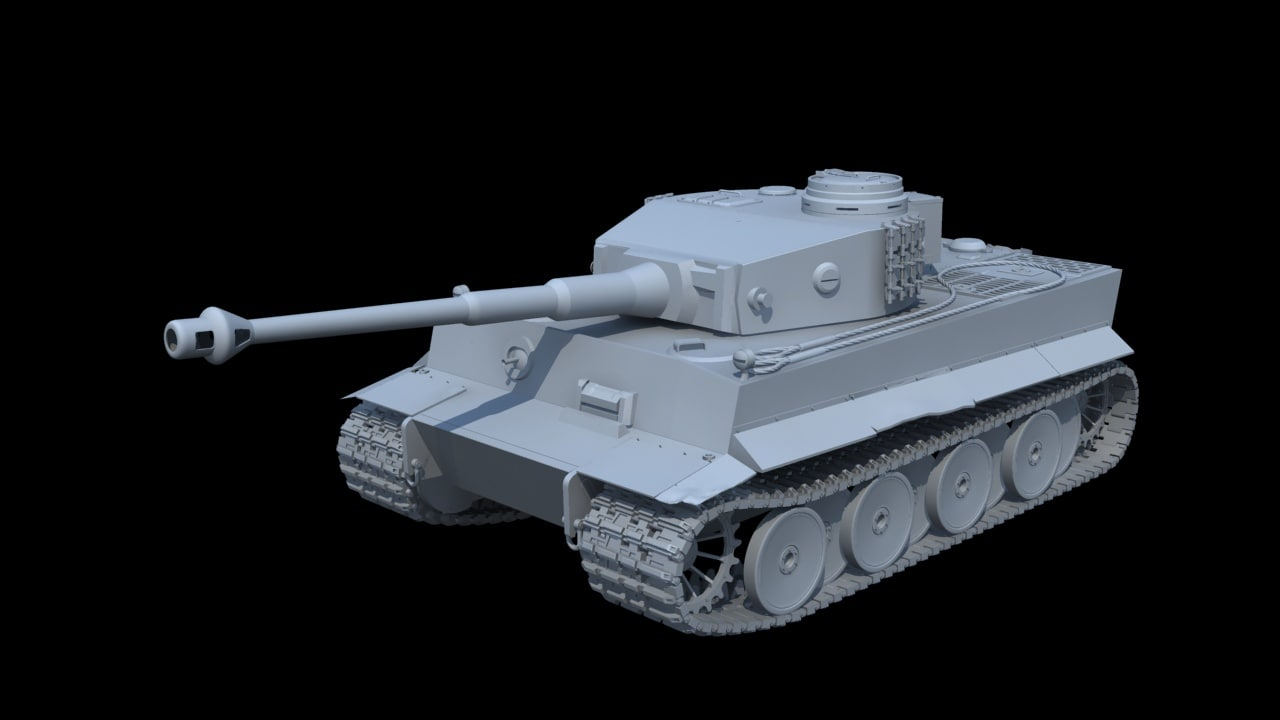 german tiger tank 3d max