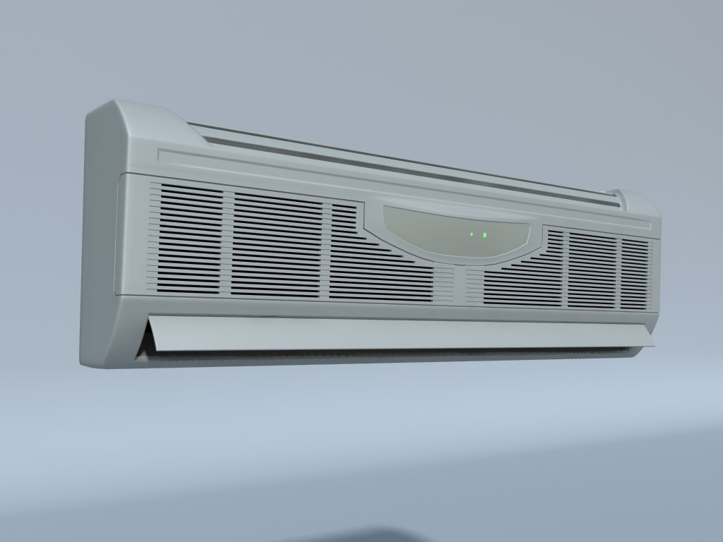 air conditioner indoor unit 3d obj