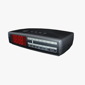 3d alarm clock radio model