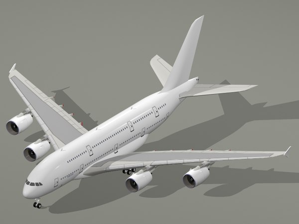 airbus a380-800 generic white 3ds