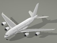 Airbus A380-800 Generic White