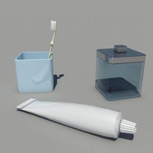 bathroom accessories 3ds