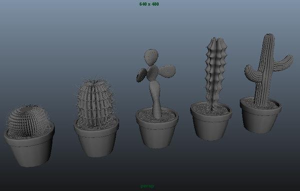 3d cactus vase