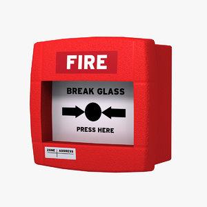 alarm button 3d max