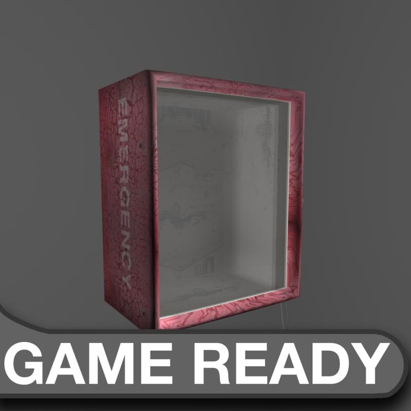 gas mask emergency box 3d obj