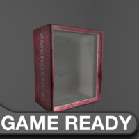 gas mask emergency box 3d obj