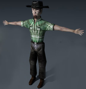 c4d cowboy ready