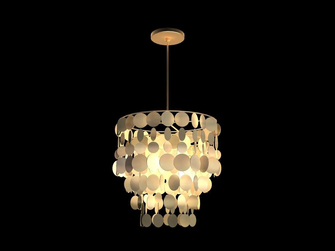 3d light lamp chandelier