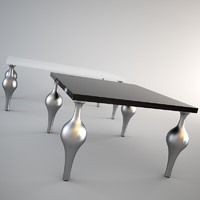 3dsmax dining table moda