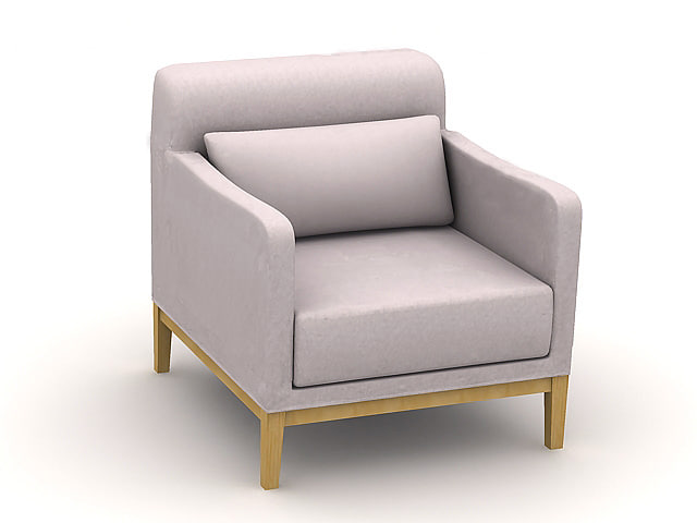 sofa s218b chair 3d 3ds