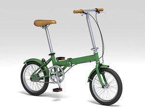 3d model folding bicycle bike