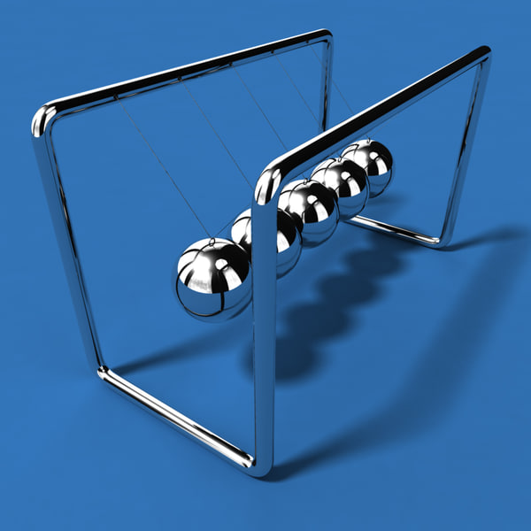 3ds max newton cradle