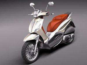 3d model piaggio bv tourer 300