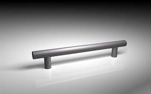 3d model steel bar handle