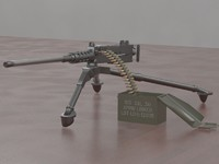 m2 browning 3d model
