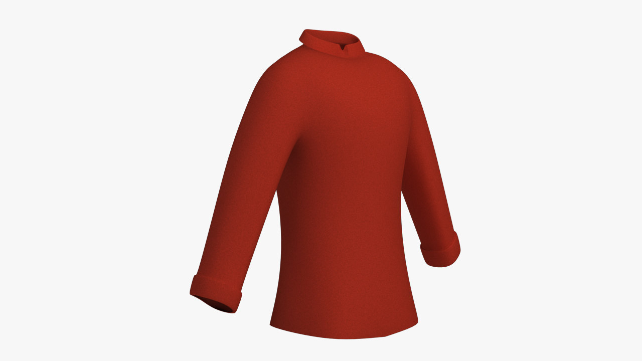 3d model long sleeve shirt