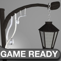 Victorian Street Lamp Low Poly