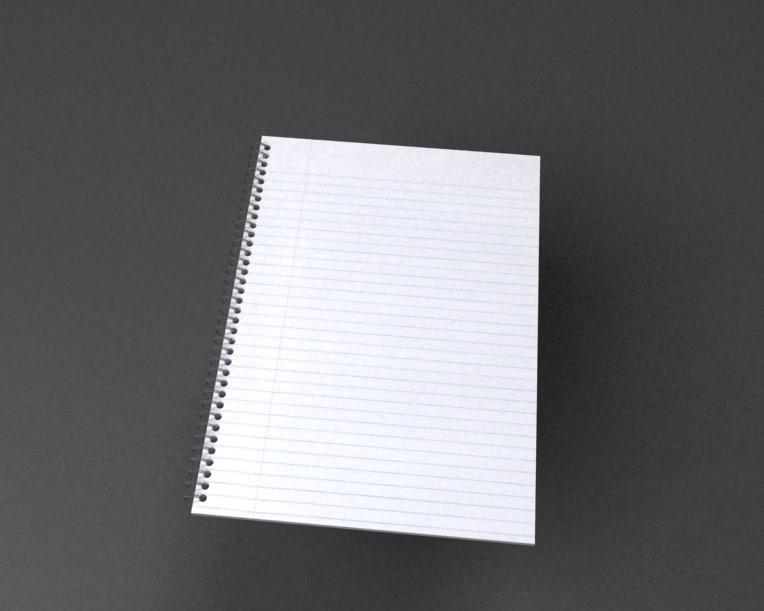 note paper 3d model