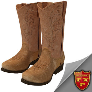3dsmax cowboy boots
