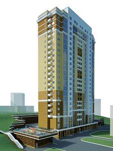 skyscraper building 3d max