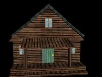 house cabin 3d model