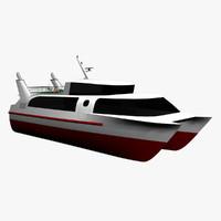 3d passenger catamaran