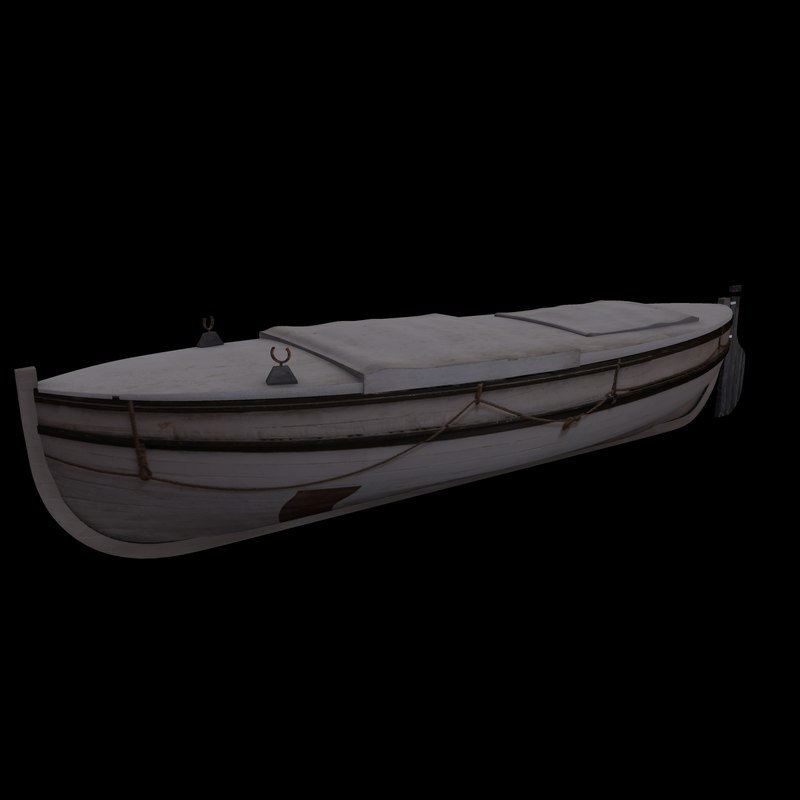 3d model of james caird sail boat