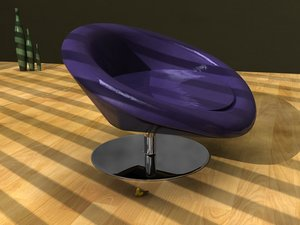 3d model moon couch