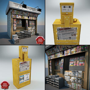 3dsmax newspapers shops