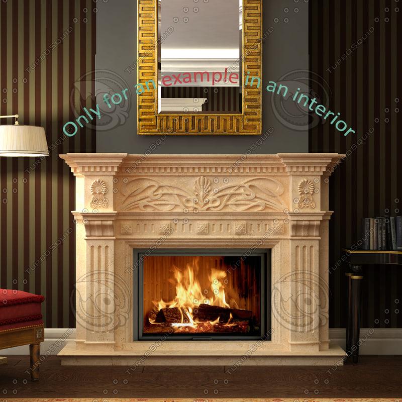 3dsmax fireplace 40