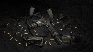gritty assault rifle 3d model