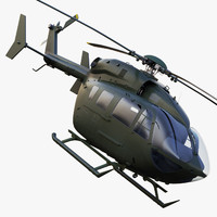 3d max uh-72a lakota u helicopters