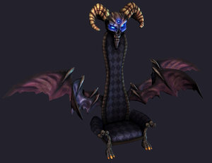 throne wings 3d model