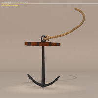 3d sailing vessel anchor model