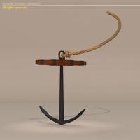 3d sailing vessel anchor model