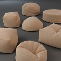 3d model bean bag chairs