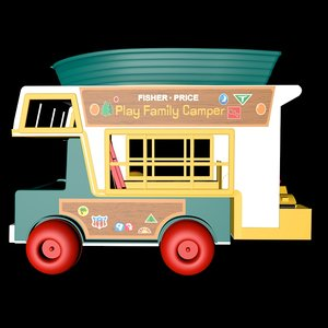 3d play family camper model