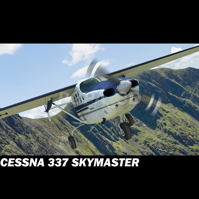 3ds airplane cessna 337