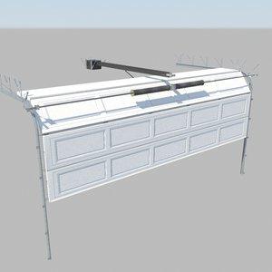3ds max rigged garage doors