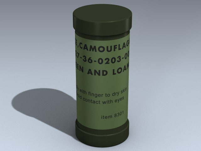 3d camouflage paint stick model