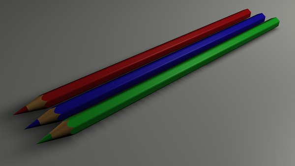 pencils colour 3d model