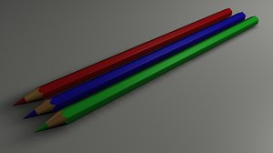 pencils colour 3d model