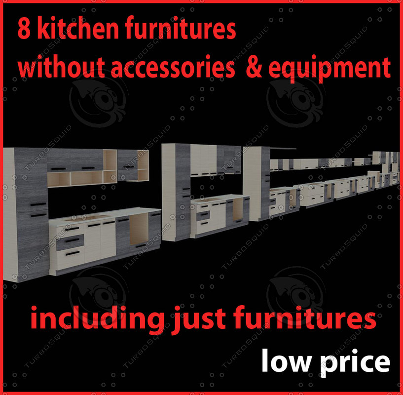 3ds max kitchen furnitures