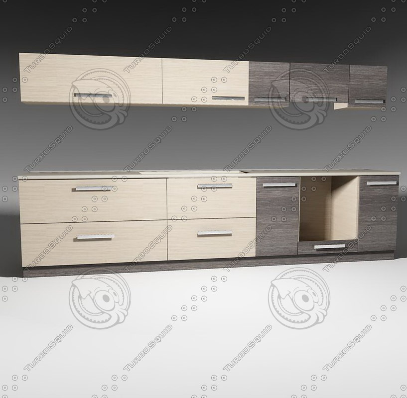 kitchen furnitures pack 1 3ds