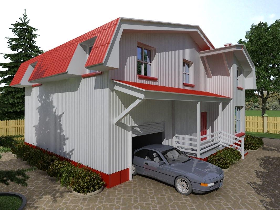 3d max cottage