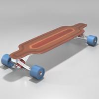 3ds max longboard skateboard