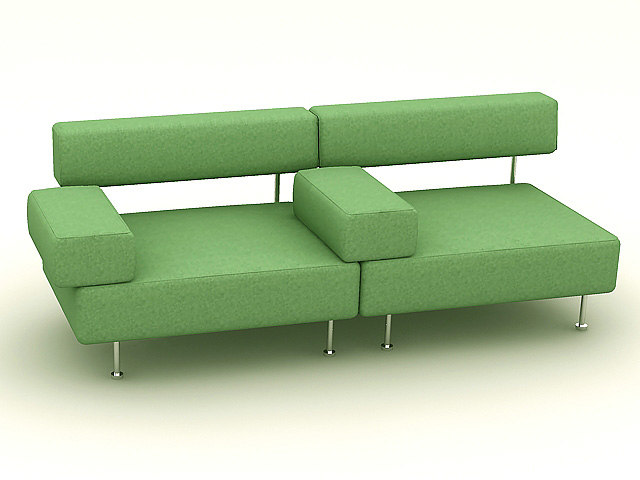 chair sofa 3d dxf