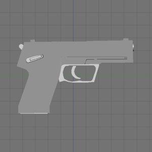 3d pistol modern model